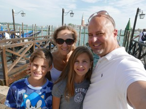 Us in front of the Grand Canal Venice